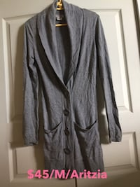 Gray button-up cardigan Burnaby, V5C