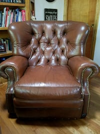 brown leather armchair Troy, 48083
