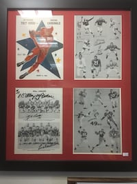 San Francisco 49ers & Chicago Cardinals Autographed Framed Piece With COA Satellite Beach, 32937