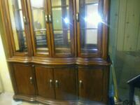 brown wooden framed glass display cabinet Montreal, H1G