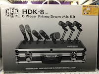 HELI HDK-8 PRIMO DRUM MIC KIT BRAND NEW 544 km