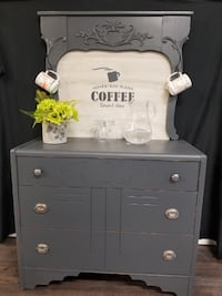 white wooden 4-drawer chest Courtice