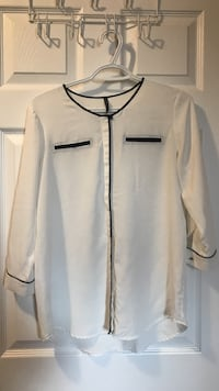 white and black long-sleeved shirt Kitchener, N2M 0A1