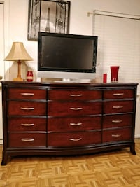 Nice big wooden dresser/ TV stand with 12 drawers  Annandale, 22003