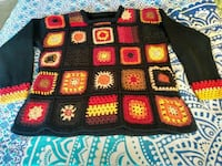 Vintage hand made Granny Squares Sweater