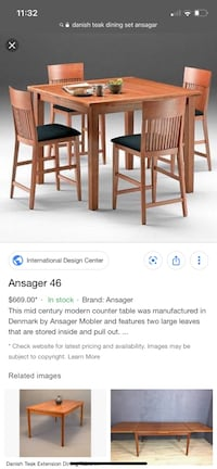 Danish Dining Room Set - in perfect shape,  6 chairs Bel Air, 21015