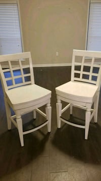 two white wooden armless chairs Marietta, 30067