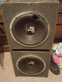 black and gray MTX Audio subwoofer Asheboro, 27203
