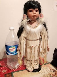 "Native American Indian doll 18"" tall"