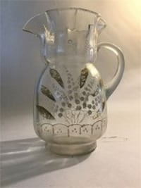 Etched Glass Pitcher Severn