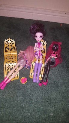 three assorted Monster High dolls collections