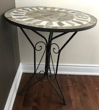 Stone and Iron Bistro Table indoor/outdoor Oakville