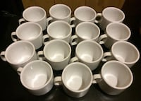 15 Porcelana Crisa white ceramic mugs Arlington, 22205