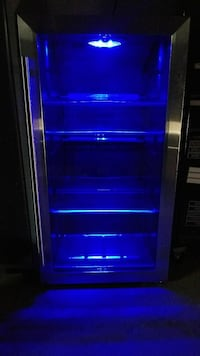 Vissani Mini Fridge Cooler in Stainless Steel