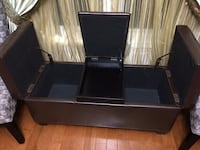 Rectangular Brown Leather Storage Ottoman Like new, Excellent condition.