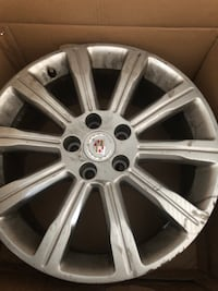 Cadillac rims with low flat tires 4 of them North Attleboro, 02760