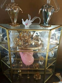 Small Glass Curio Case With Contents Calgary, T2Y 2W5