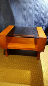 TEAK COFFEE TABLE and 2 END TABLES