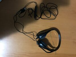 Plantronics black and gray corded headset