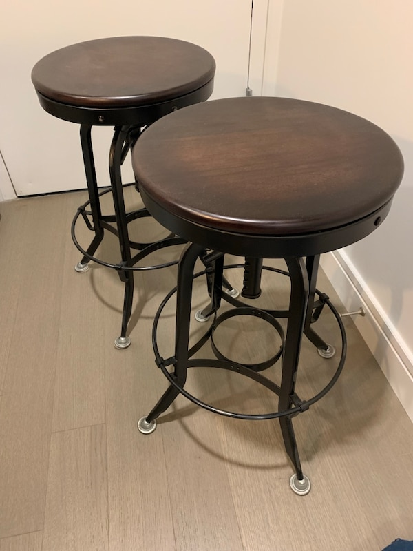 Pair Of Restoration Hardware 1940s Vintage Toledo Barstool