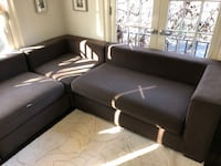 L-shaped Brown couch from West Elm Montclair, 07042