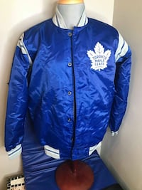 AUTHENTIC NHL STARTER - Carl Banks- Toronto Maple Leafs Varsity Jacket Men Size Large New w/tags  VIEW MY OTHER ADS!!!