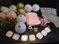 Lot of Baby shower decorations