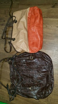 women's two black and red leather bags Thurmont, 21788