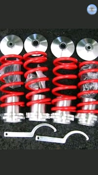 red and black shock absorber