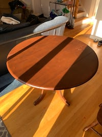 Dark wood table with two chairs Somerville, 02143