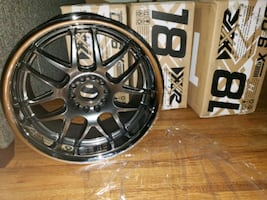Set of brand new, never used, never opened 18×9 xxr wheels with lip