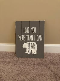 Wooden Bear Sign for Nursery Madison, 39110