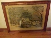 brown wooden framed painting of house Saint Paul, 55116