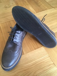 New! Comfortable, dark brown leather shoes for men, size 44 Barcelona, 08023
