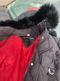 black and red fur zip-up hoodie Wilsonville, 97070