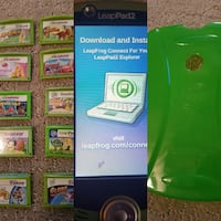 LeapFrog LeapPad2 with game cartridges collage