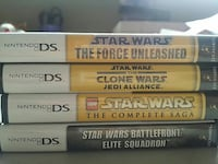 4 Star Wars Series Nintendo DS game cases London, N5V 4Y8
