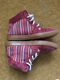 Bottines basket greentouch rouge bordeau taille 36-37