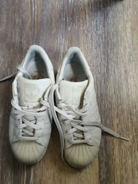 pair of white Adidas low top sneakers Paterson, 07503