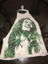 white and green Bob Marley print halter top Austin, 78721