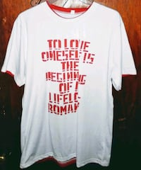 white and red crew-neck t-shirt Rock Hill, 29732