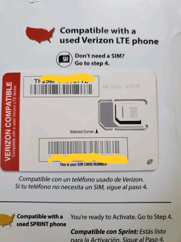 Brand New Verizon to Straight Talk Sim Card