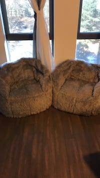 Gray Faux Fur Bean Bags Rockville, 20852