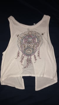 white and gray floral tank top Omaha, 68135