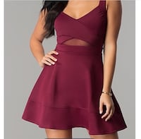 Burgundy Skater Dress Waukee, 50263