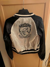 white and black letterman jacket Lacey, 98503