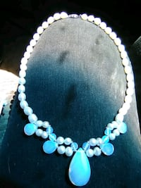 Cultured Pearl and Opalite necklace Redding, 96002