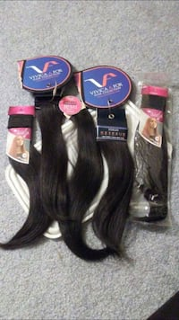 Pure Virgin hair Weave Extension pieces.