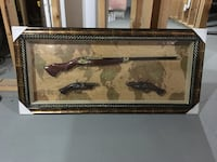 Brown wooden framed painting of black horse Bradford West Gwillimbury, L3Z 0C6