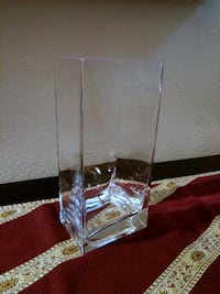 "8.5"" Clear Glass Rectangle Vase Lake Forest, 92630"